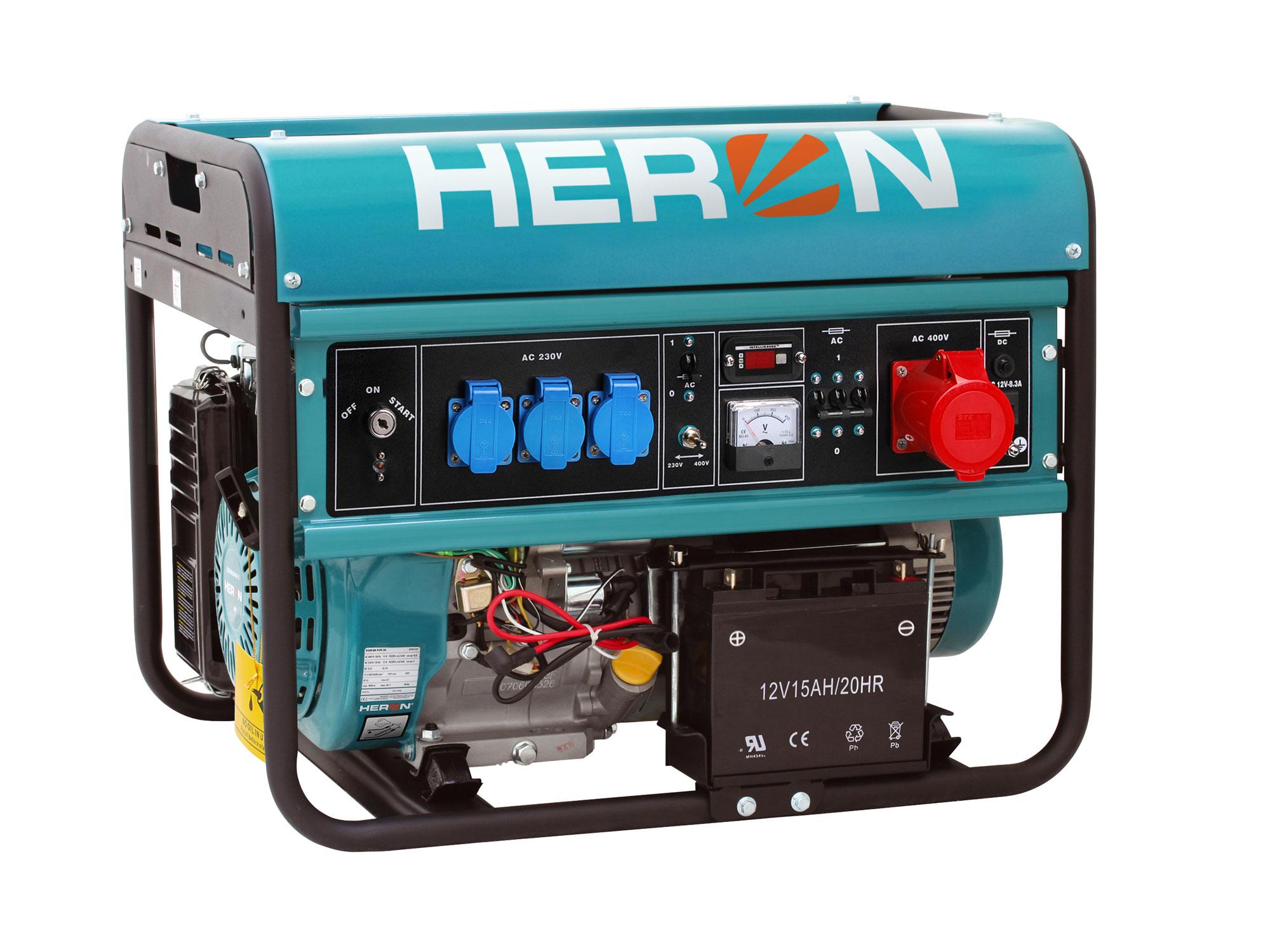 ZRUŠENO! Nahrazeno výrobkem 8896420, elektrocentrála benzínová 15HP/6,8kW (400V) 5,5kW (230V), elektrický start