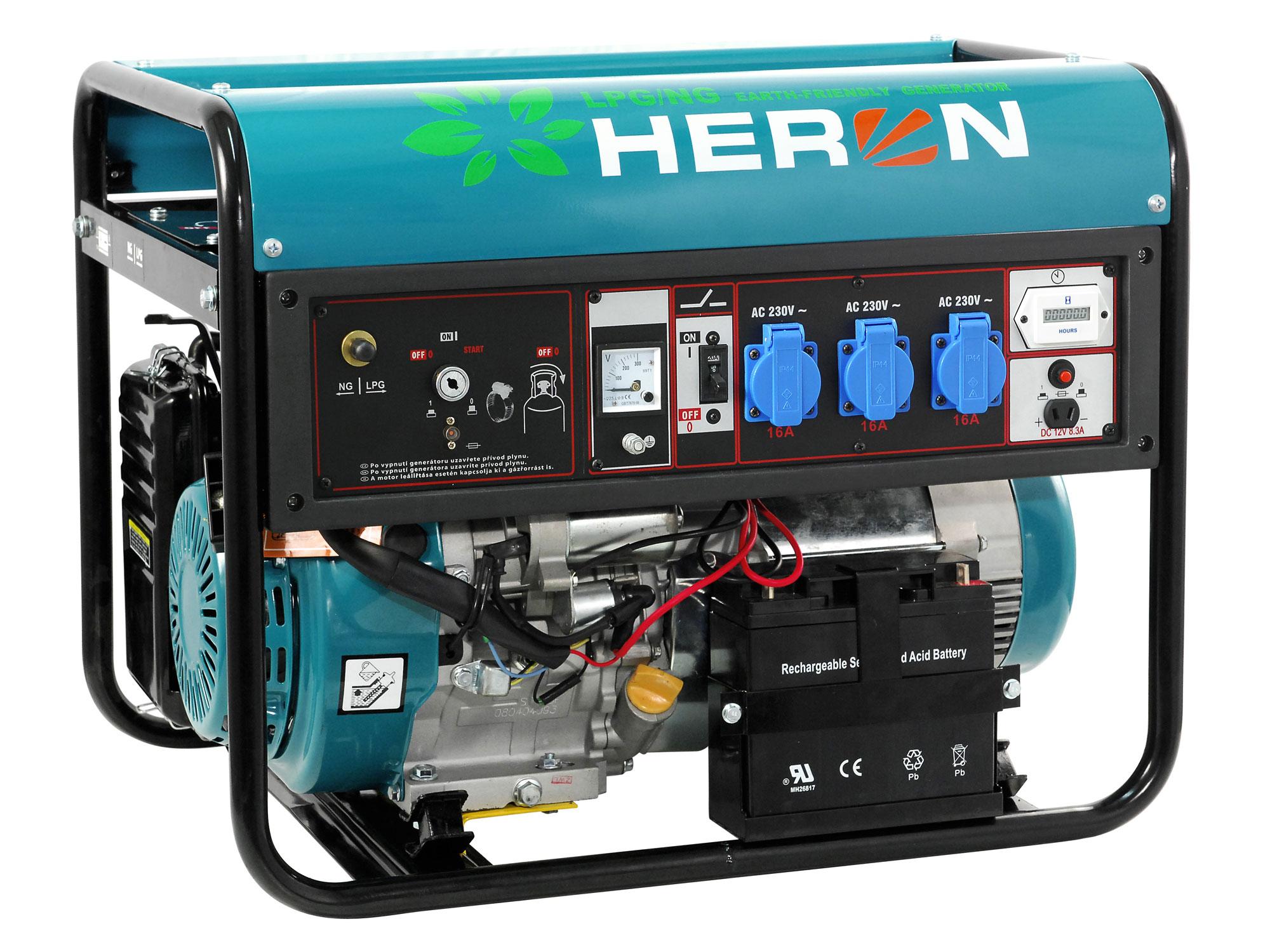 elektrocentrála plynová 11HP (LPG/ NG) s elektrickým startem