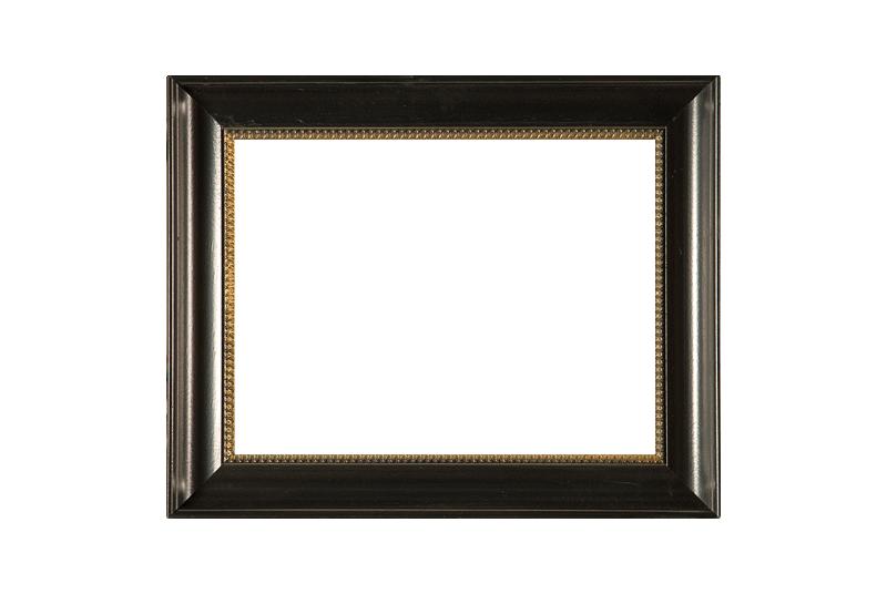 17e eeuws zwart hoekverwerkte schilderijlijst