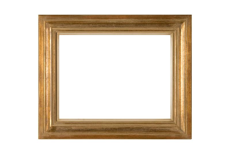 Modern goud ivoor ojief schilderijlijst