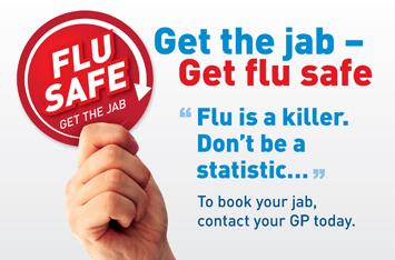 flu jab advert
