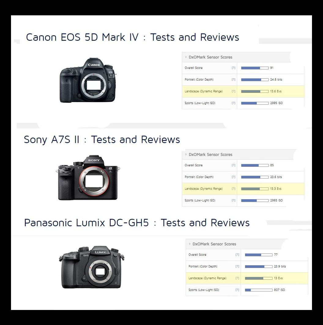 Sony a7S II vs Panasonic GH5 vs Canon 5D Mark IV | ShareGrid