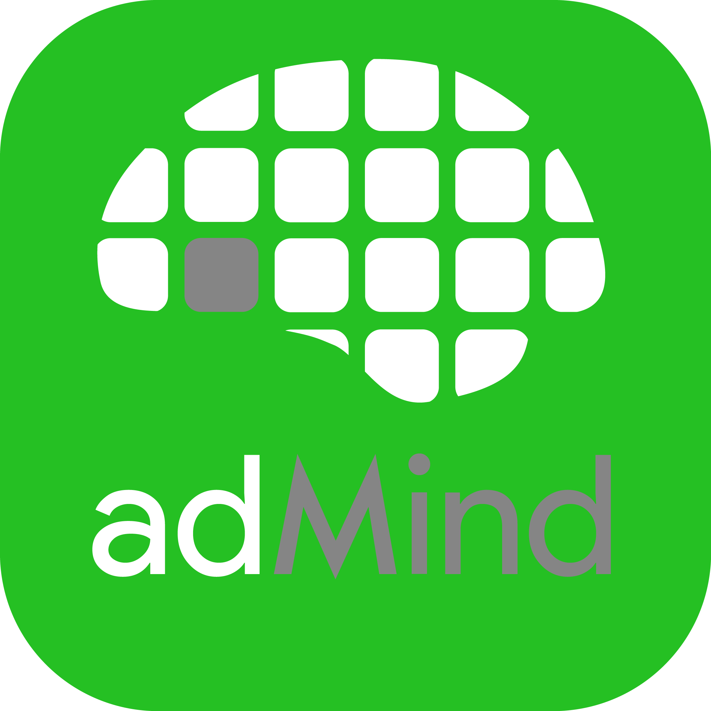 admind logo green app square