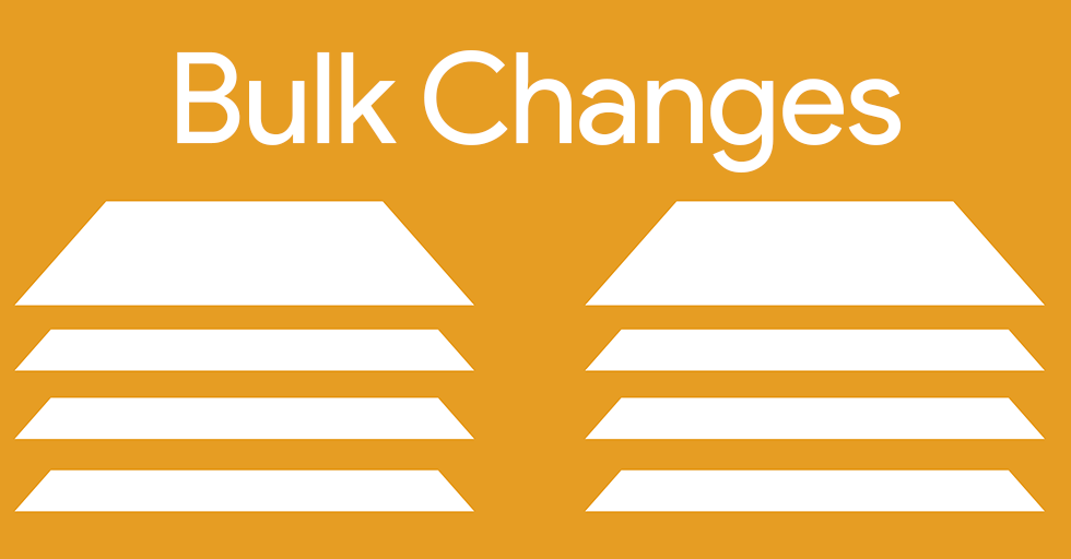 Make hours of AdWords changes in minutes using bulk changes.