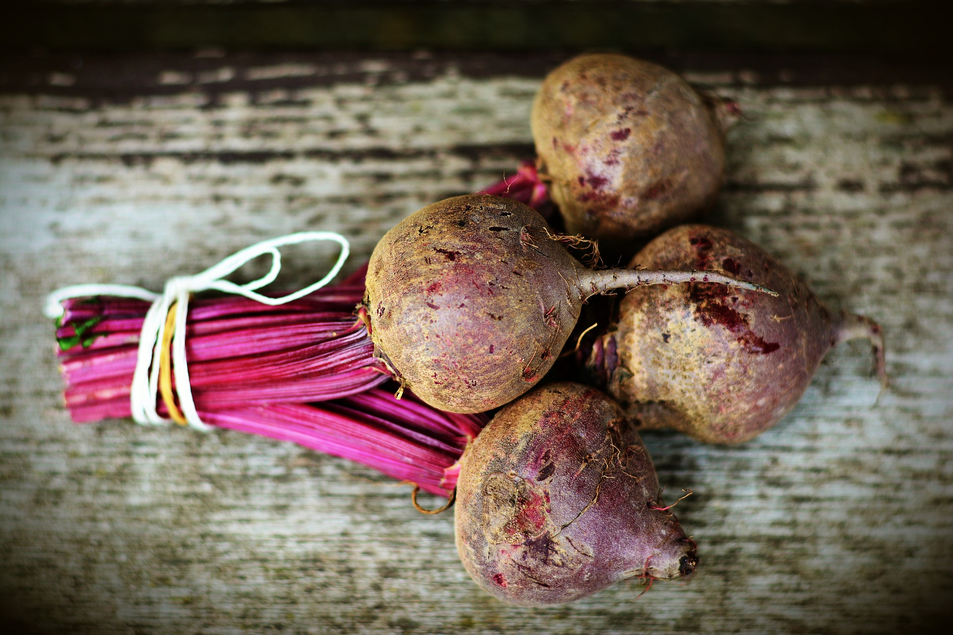 bundle of beet roots