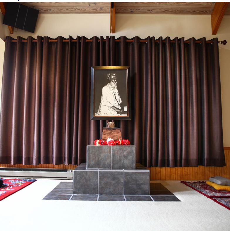 The Sri Vidya Shrine in the meditation hall at the Himalayanin Institute