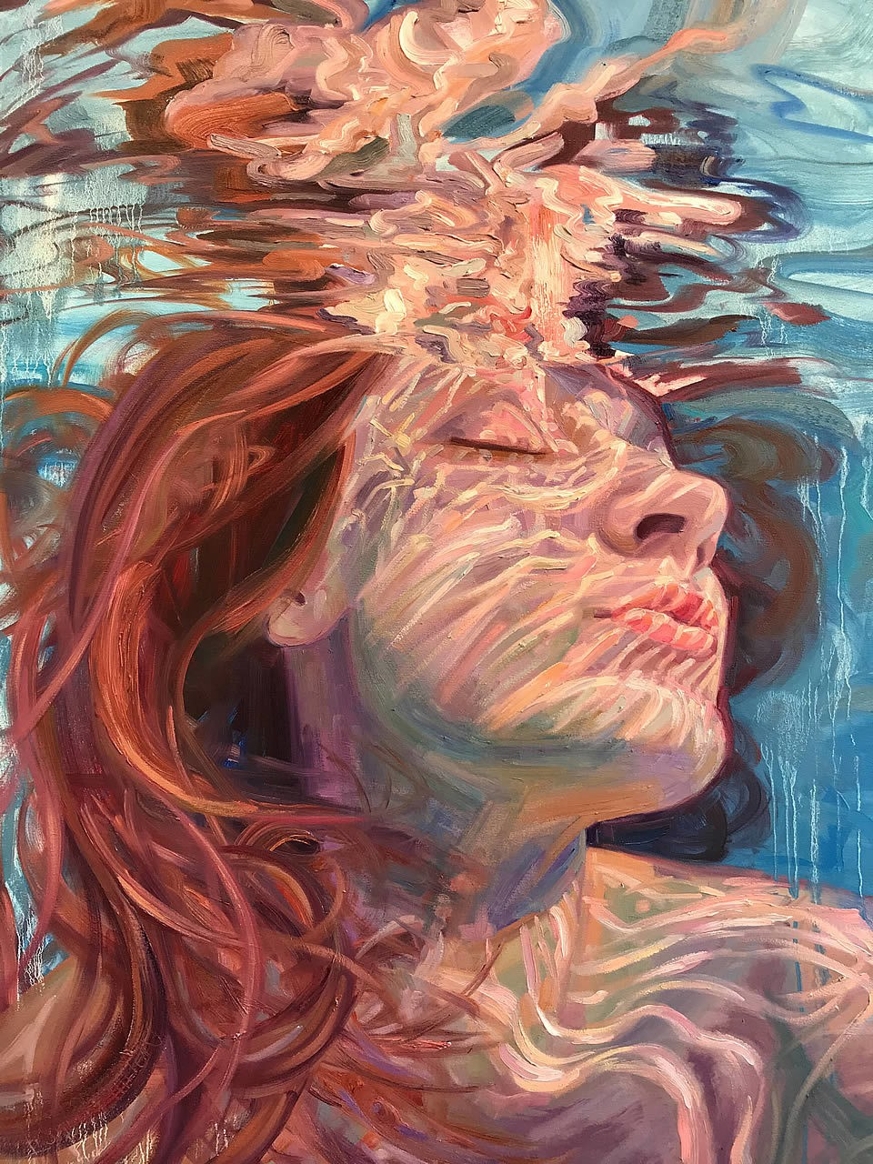 a woman underwater