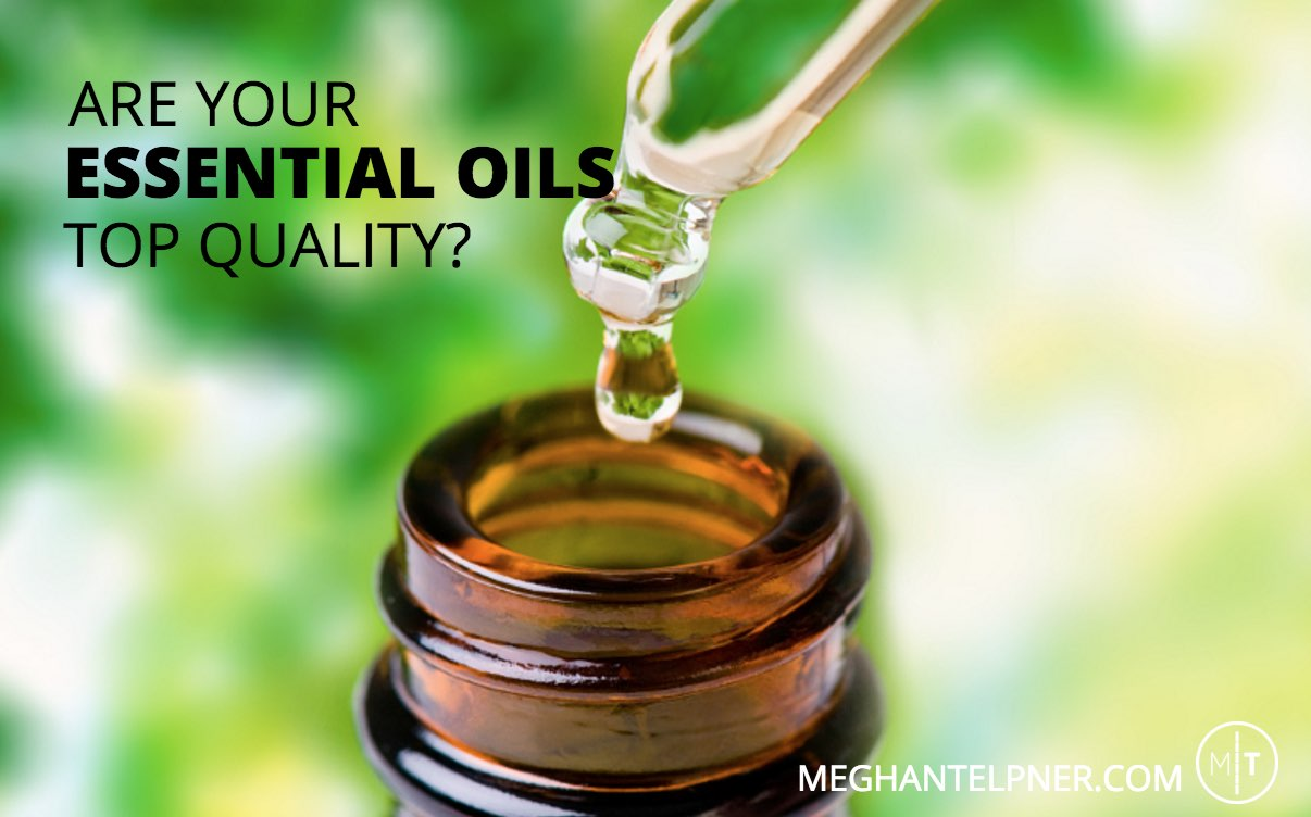 """Drop of oil ready to go into bottle """"Are your essential oils top quality?"""""""