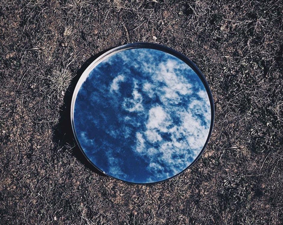 Mirror on ground
