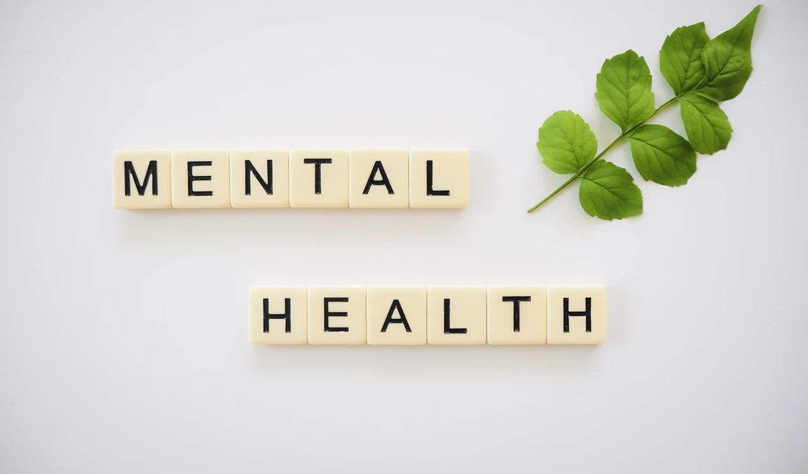 "Scrabble tiles ""Mental Health"""