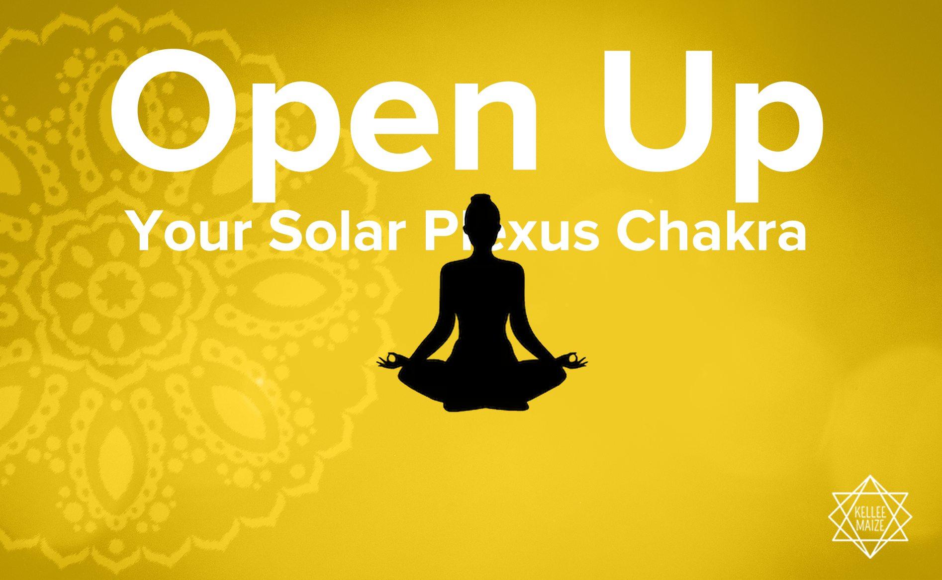 Open up solar plexus chakra illustration
