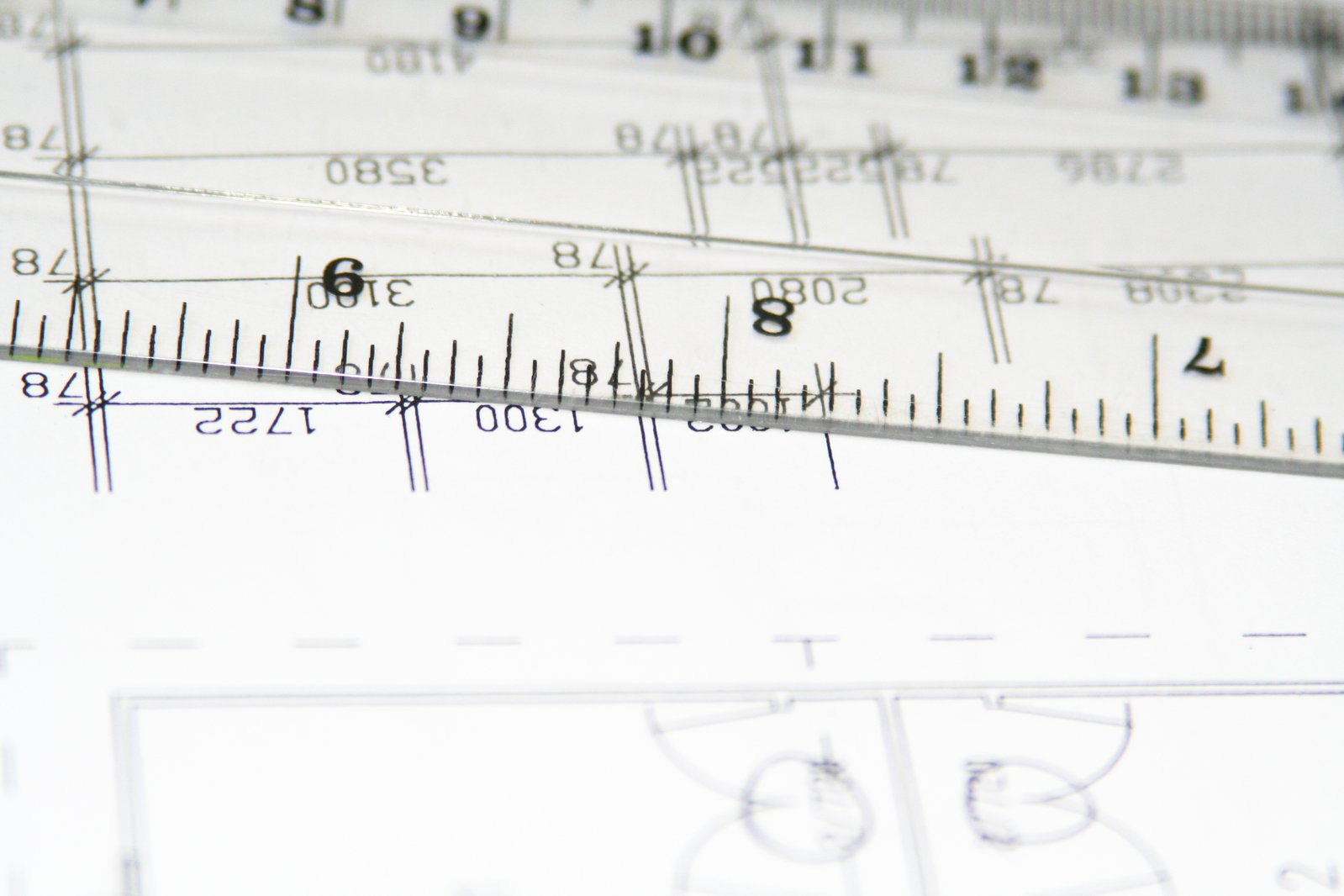 Ruler and blueprints
