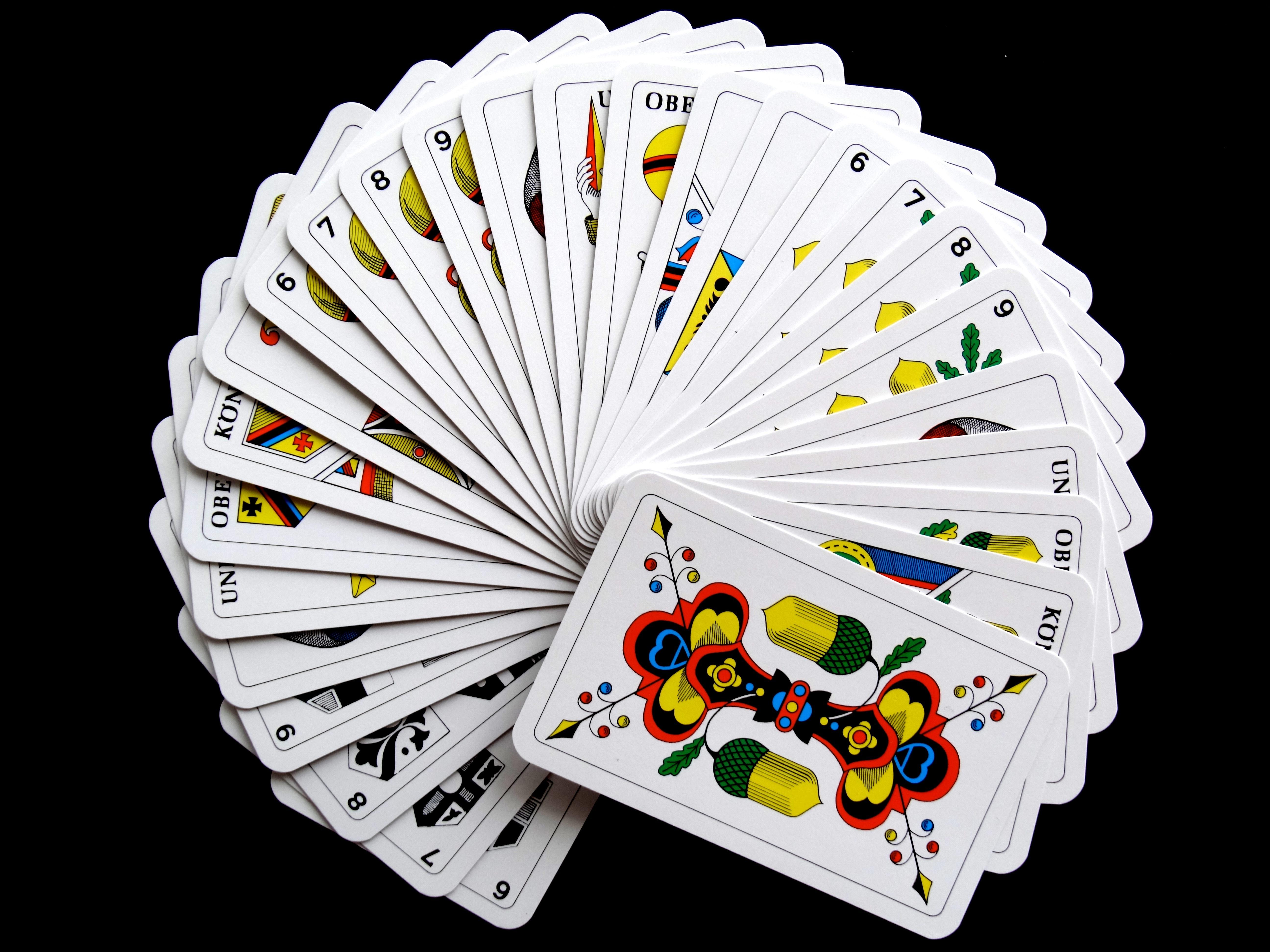 a tarot card deck fanned out