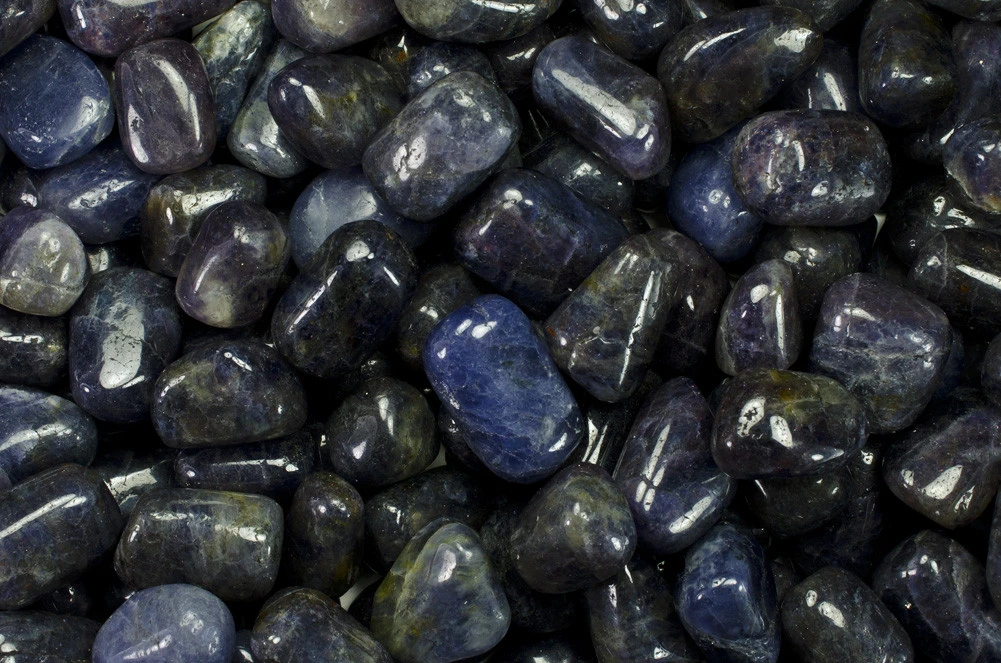 Iolite, the dark blue stone of exploration