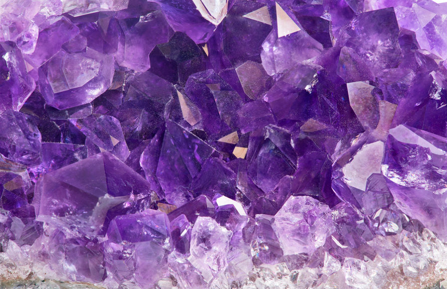Amethyst, a richly purple and highly spiritual crystal