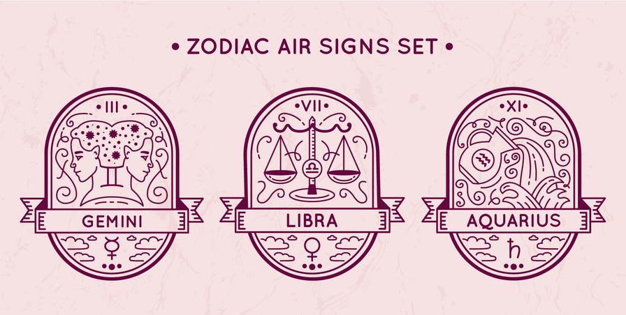 air sign symbols