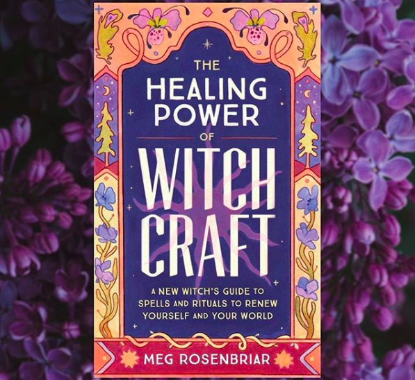 Tarot card advertising the healing power of witch craft