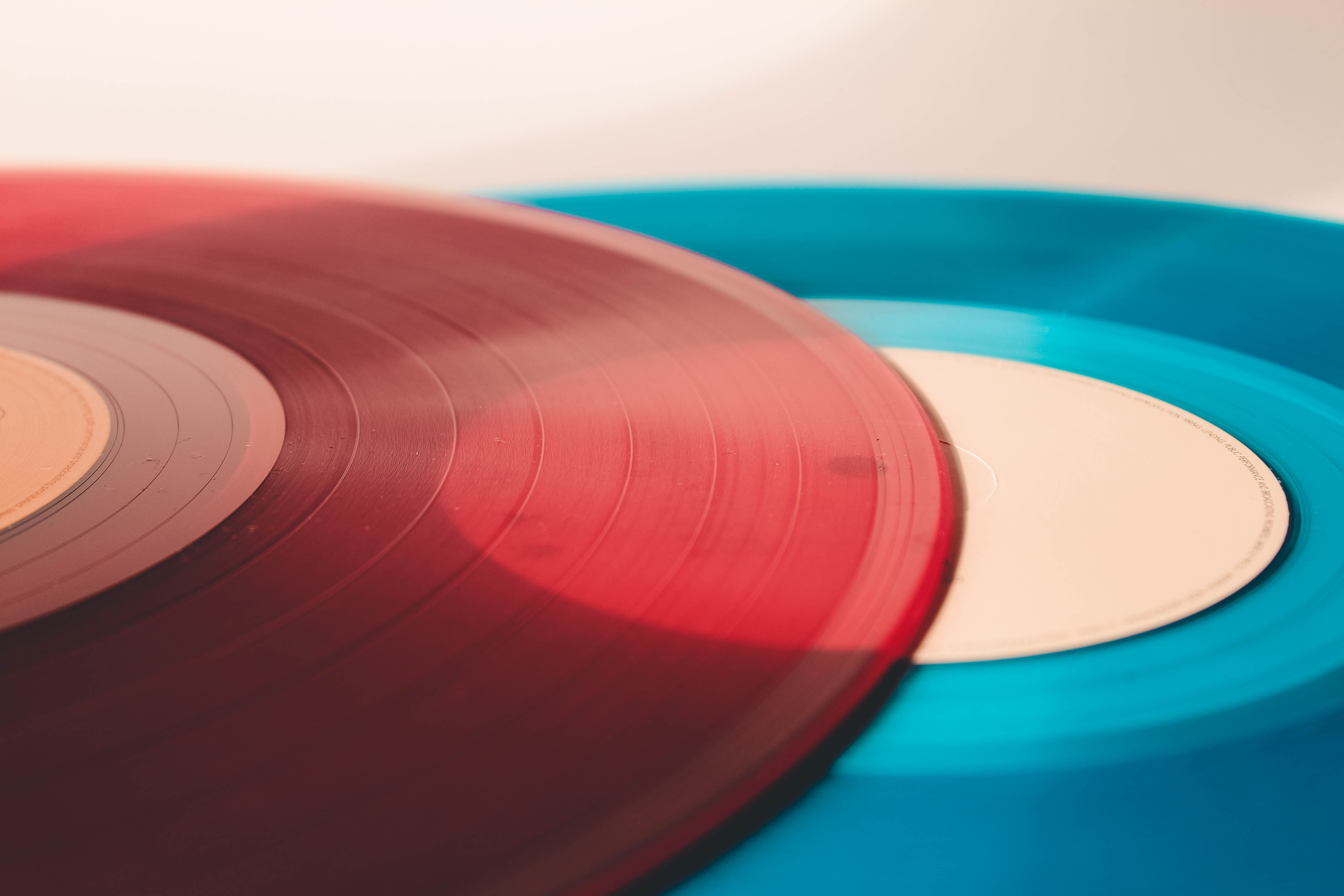 blue and red record