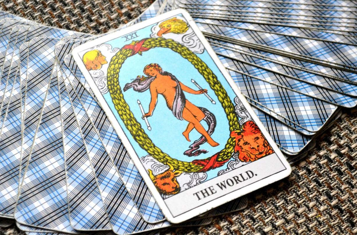 the world tarot card