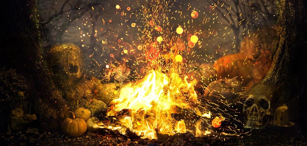 fire for celebrating Samhain