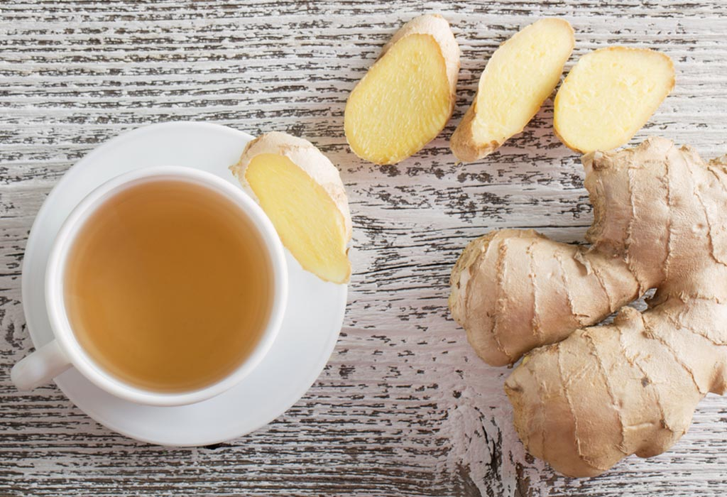 Tea and ginger are good to treat morning sickness.