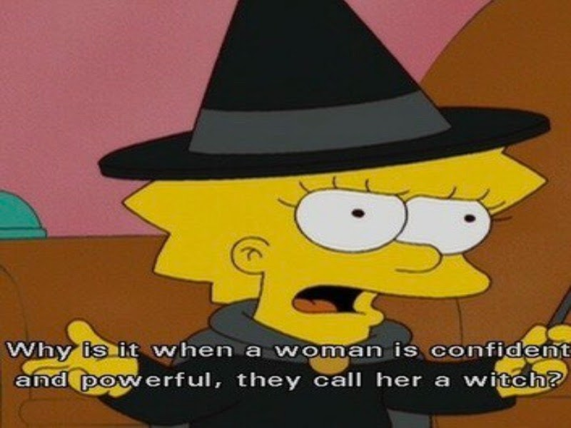 Lisa Simpson dressed as a wtich