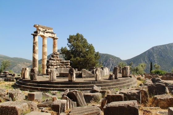 Picture of Ancient Greek temple in ruins