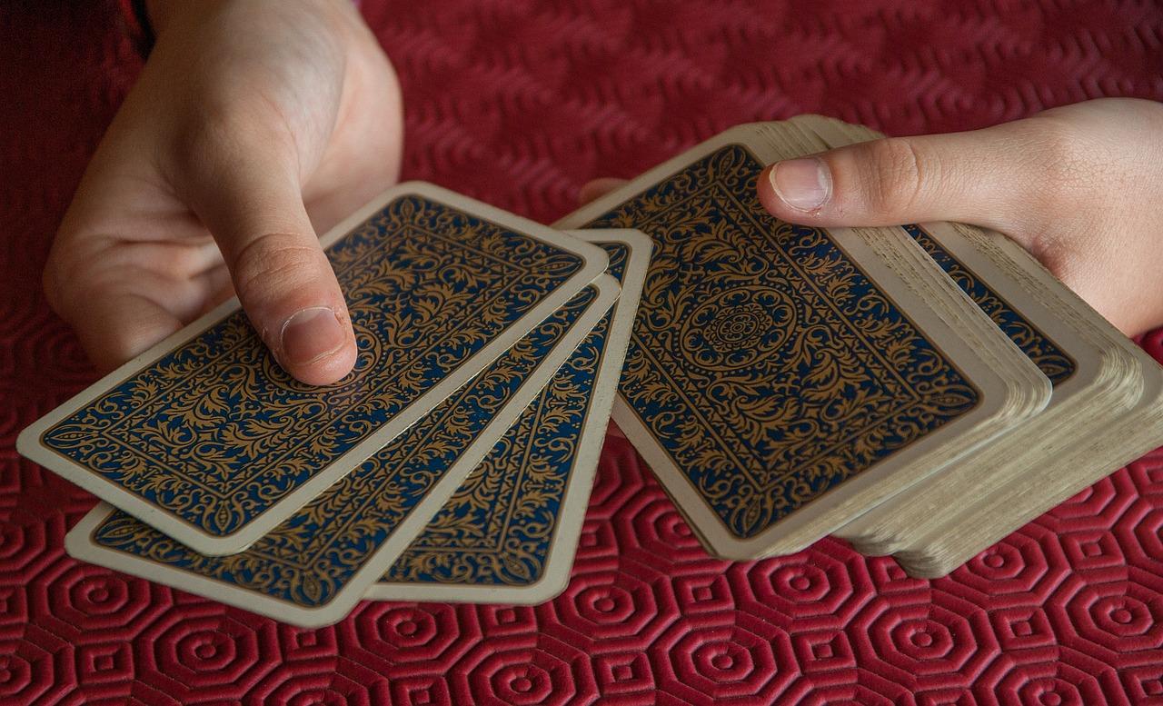 a deck of tarot cards.