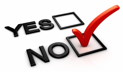 A yes or no checkbox.