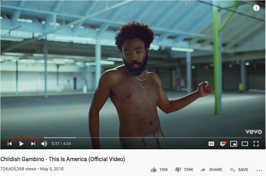 This is America Youtube page