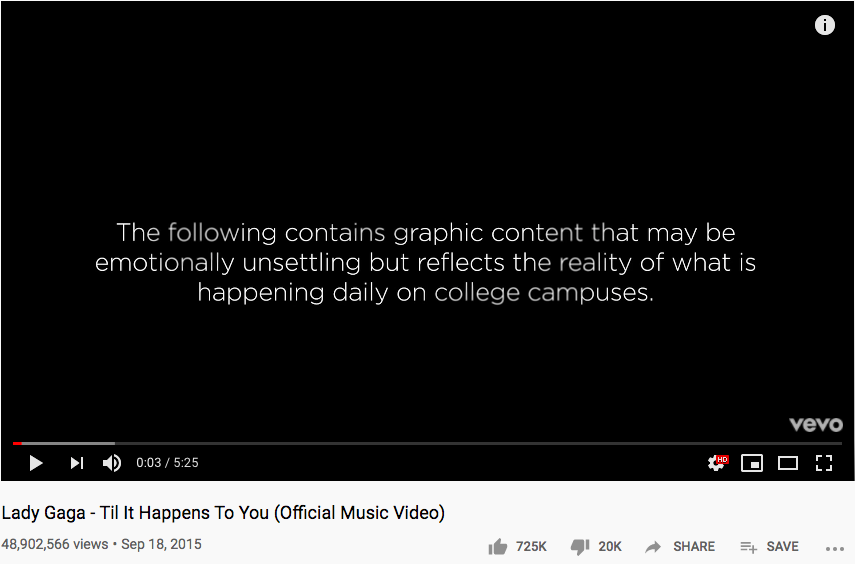 Til It Happens to You Youtube page