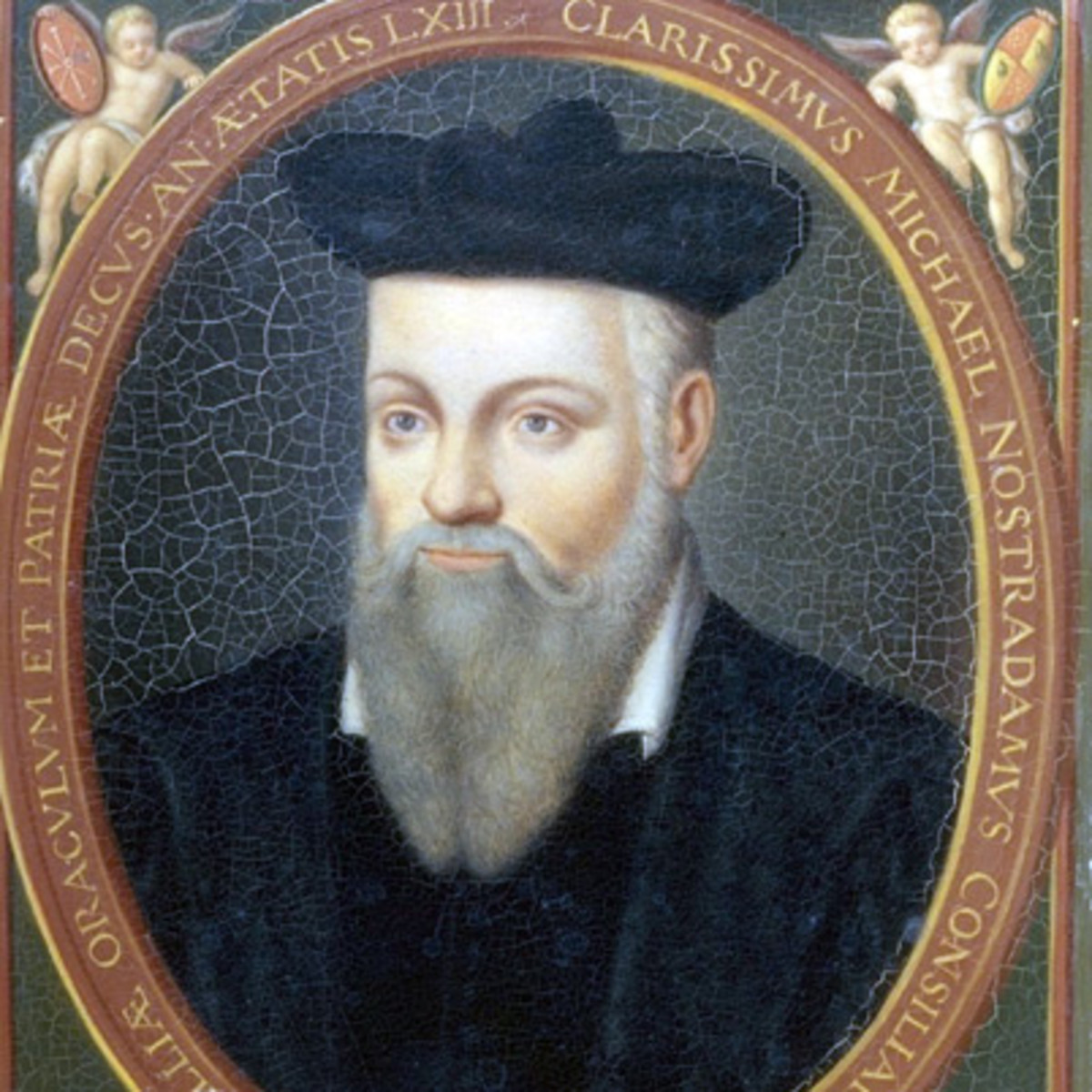 A painting of the French seer Nostradamus
