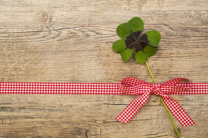 A four leaf clover to bring you good luck.