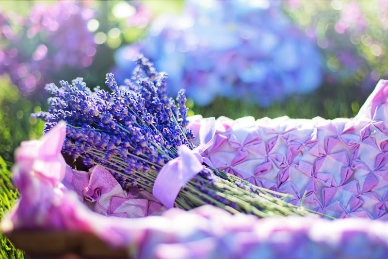 A basket filled with lavender