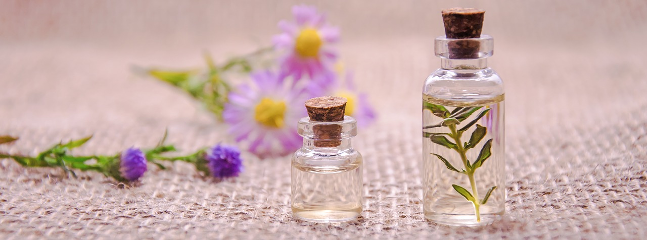 Essential oils in a bottle.