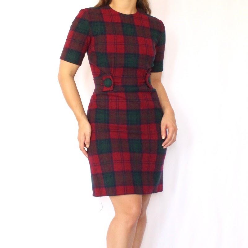 Woman wearing a vintage dress