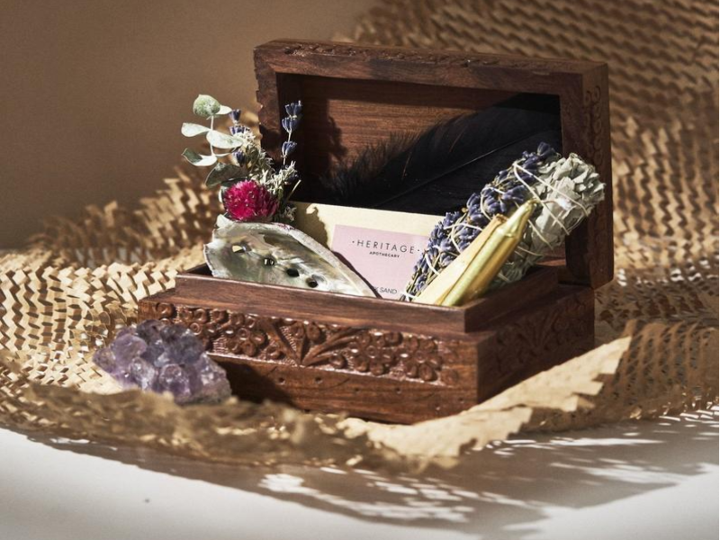 A smudging kit box