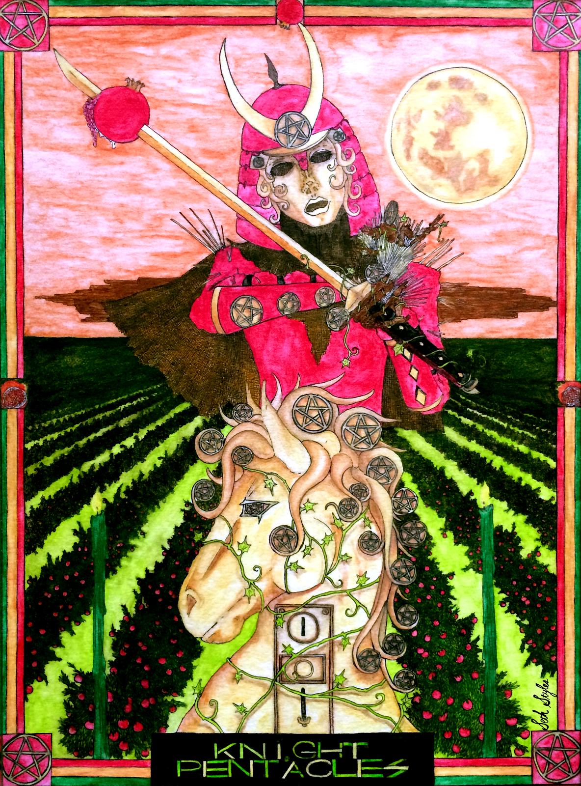 knight of pentacles art