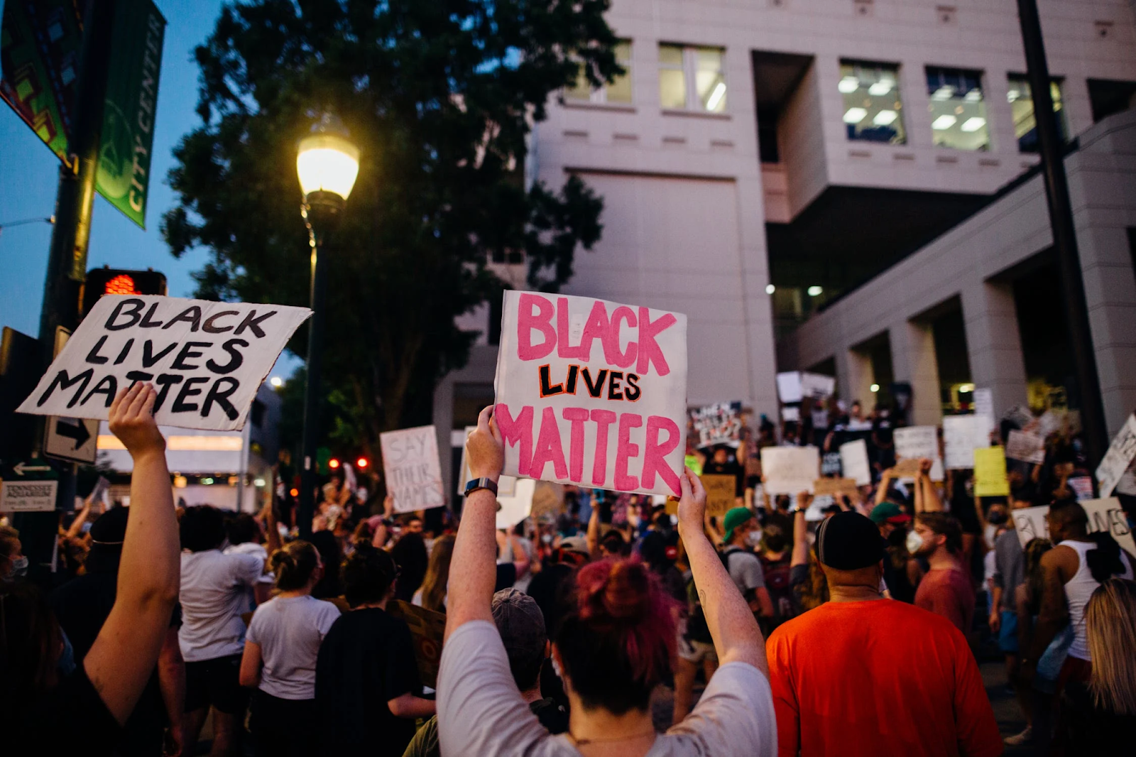 A Black Lives Matter protest.