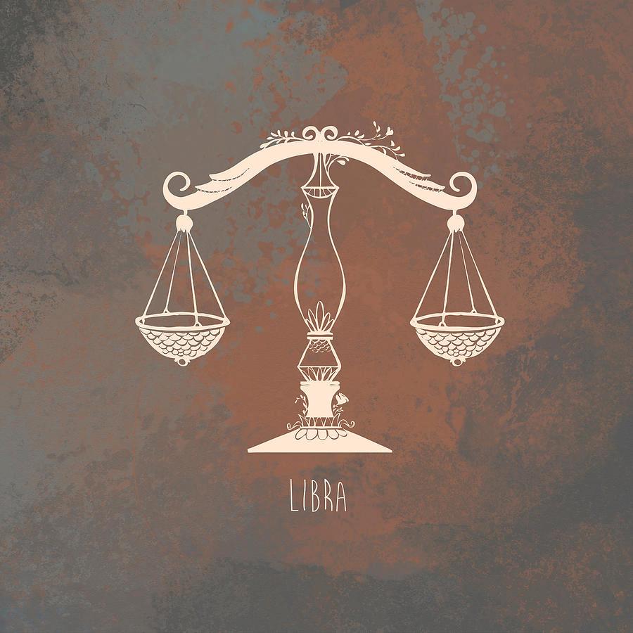 Libra scales art