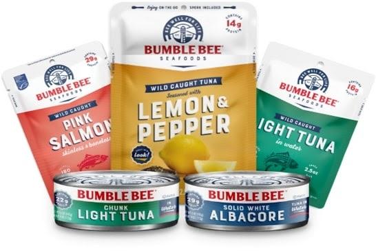 Bumble Bee brand canned tuna and salmon.