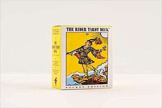 Yellow deck of tarot cards.