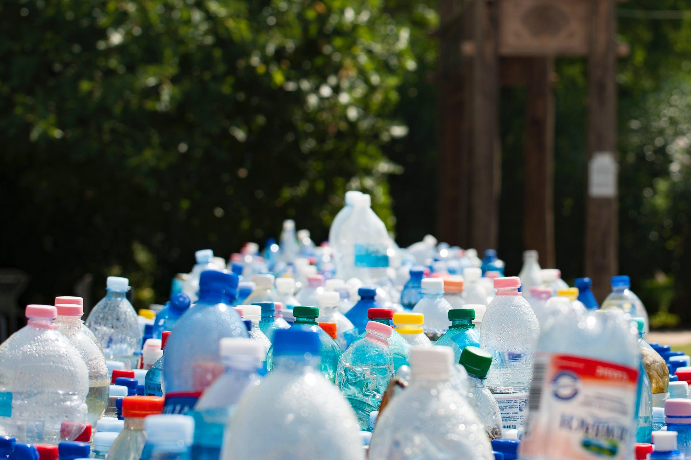 Assortment of plastic bottles.