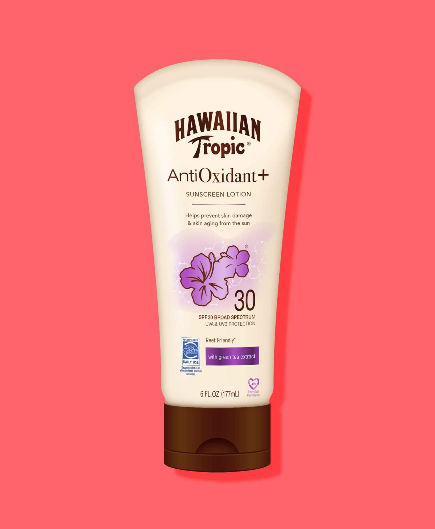 Hawaiian Tropic AntiOxidant Sunscreen lotion. Image courtesy of Hawaiian Tropic.