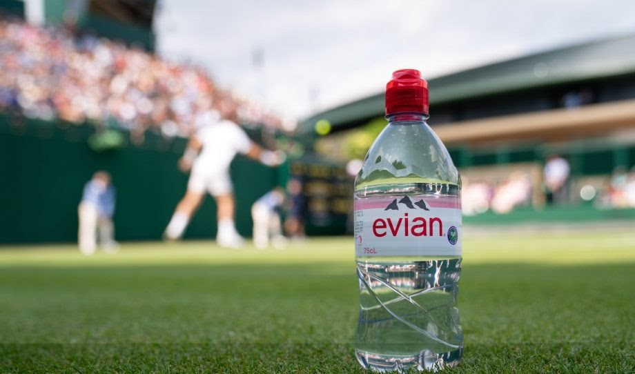 Evian is a French company that bottles and commercialises mineral water sourced from Évian-les-Bains, on the south shore of Lake Geneva. Image courtesy of marieclaire.co.uk.