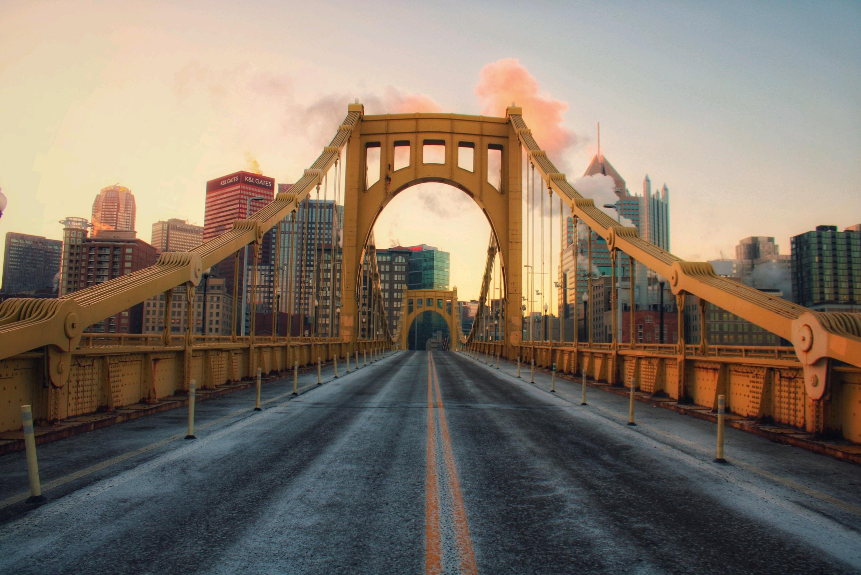 Pittsburgh, PA bridge and cityscape