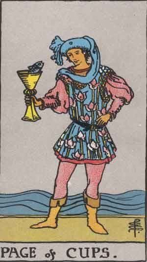 Image of the Page of Cups tarot card.