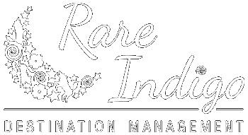 Portfolio logo - Rare Indigo Destination Management - white version