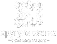 Portfolio logo - xpyrynz events - white version