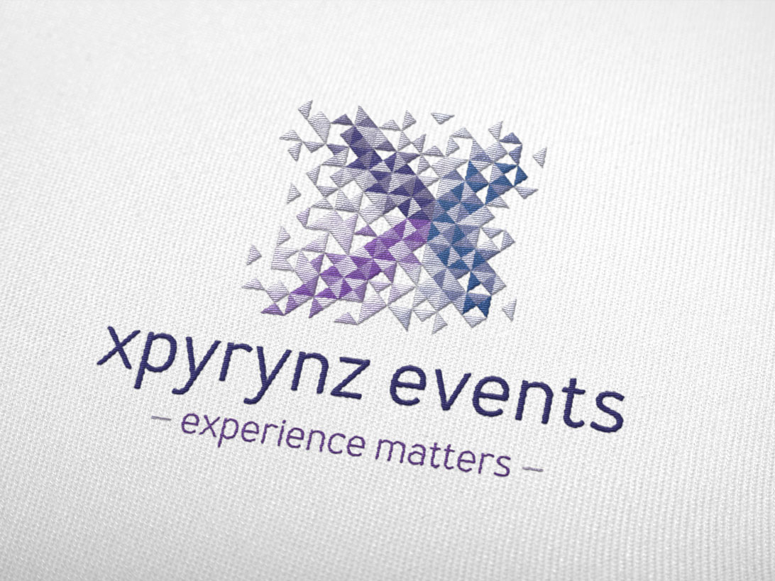 xpyrynz events embroidered on white
